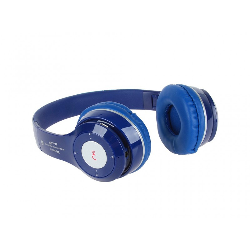 Наушники Eltronic Bluetooth/FM/Micro SD/AUX Blue 4463