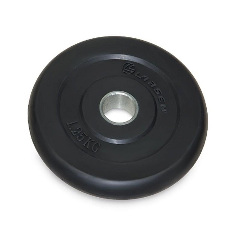 Диск обрезиненный Larsen NT121 1.25kg Black