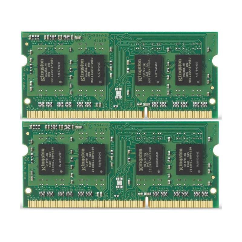 Модуль памяти Kingston PC3-10600 SO-DIMM DDR3 1333MHz - 8Gb KIT (2x4Gb) KVR13S9S8K2/8 CL9