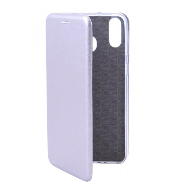 Чехол Innovation для Samsung Galaxy M20 Book Silicone Magnetic Silver 15509