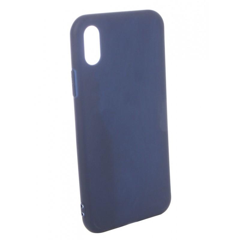 Чехол Pero для APPLE iPhone X Soft Touch Blue PRSTC-IXBL