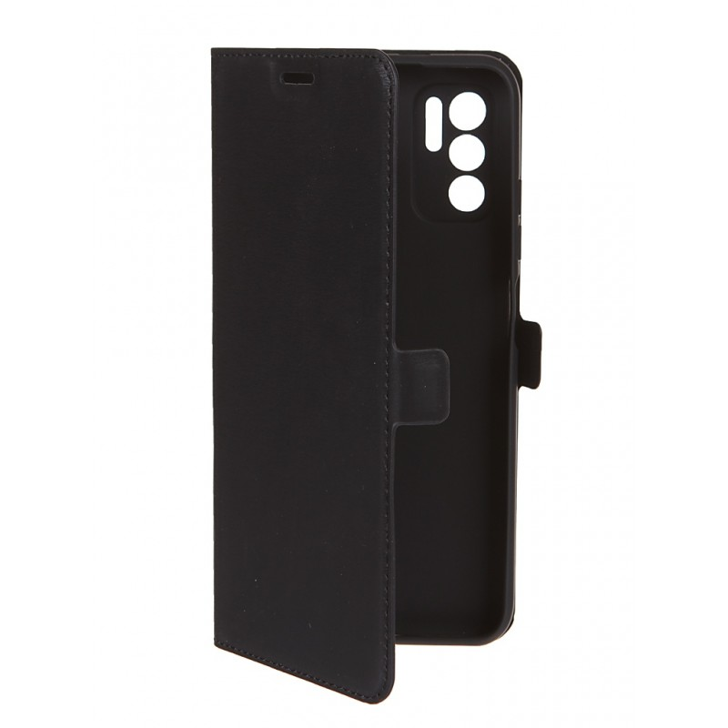 Чехол DF для Xiaomi Redmi Note 10 / Poco M3 Pro с микрофиброй Silicone Black xiFlip-72