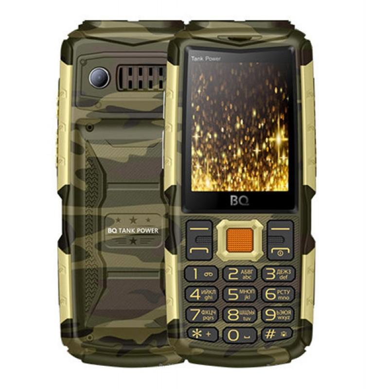 Сотовый телефон BQ BQ-2430 Tank Power Camouflage-Gold