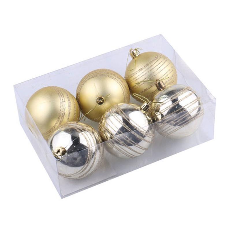 Набор шаров Золотая сказка 6шт 8см Light Gold 590882