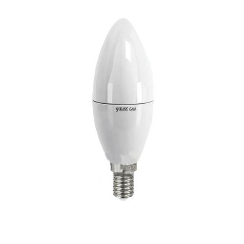 Лампочка Gauss Elementary E14 6W 220V 3000K 33116