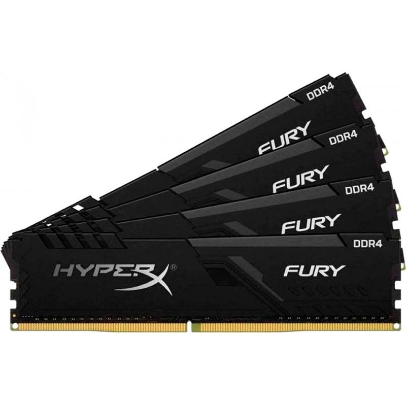 Модуль памяти HyperX Fury Black DDR4 DIMM 2666Mhz PC-21300 CL16 - 64Gb Kit (4x16Gb) HX426C16FB3K4/64