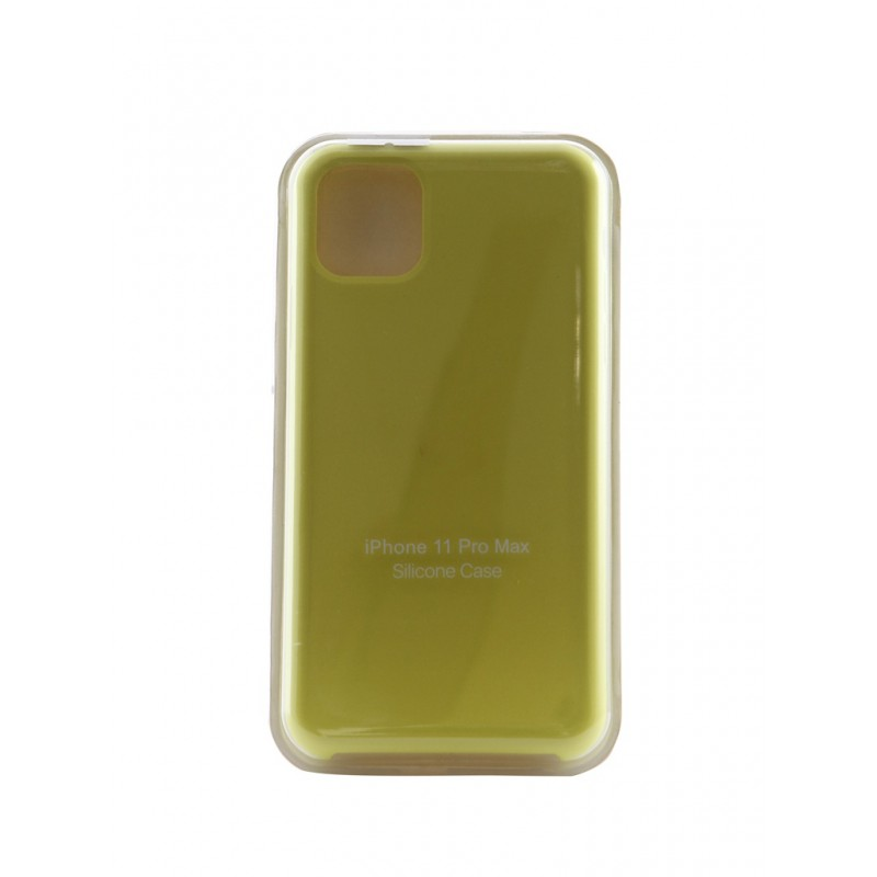 Чехол Innovation для APPLE iPhone 11 Pro Max Silicone Hot Yellow 16476