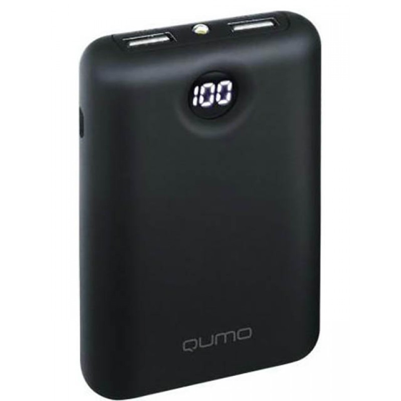 Внешний аккумулятор Qumo PowerAid 10000 V2 (24408) Black