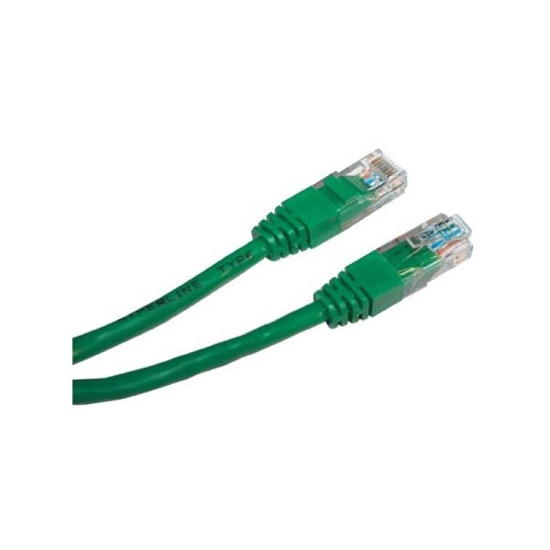 Сетевой кабель ExeGate UTP cat.5e 2m Green 258675