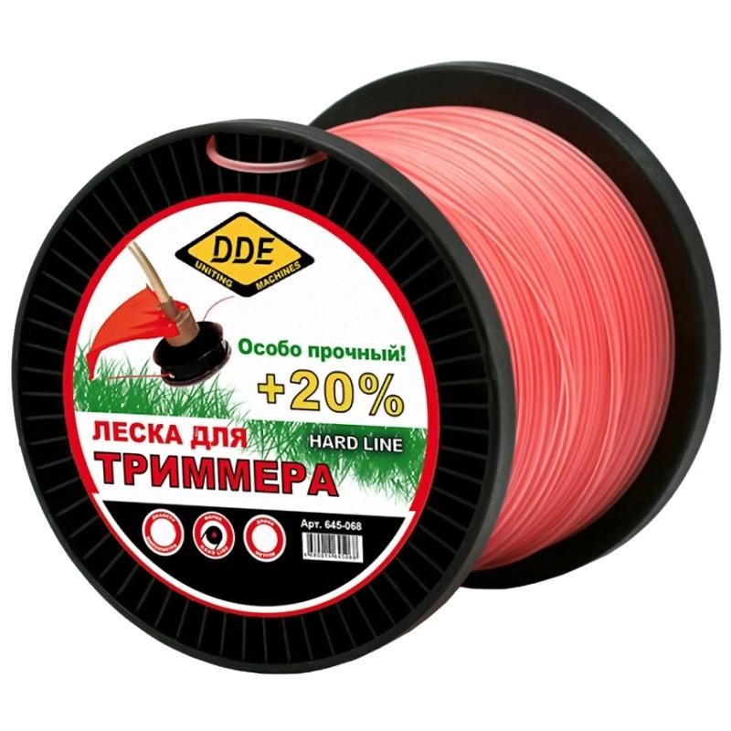 Леска для триммера DDE Hard Line 2.4mm x 180m Grey-Red 241-949