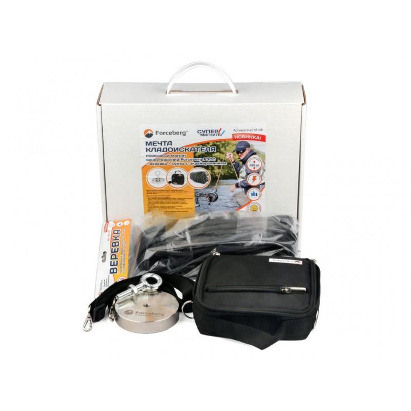 Поисковый магнит Forceberg F300 + веревка + сумка с экранированием 9-2012146