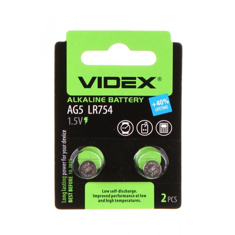 Батарейка LR754 - Videx AG5 2BL (2 штуки)