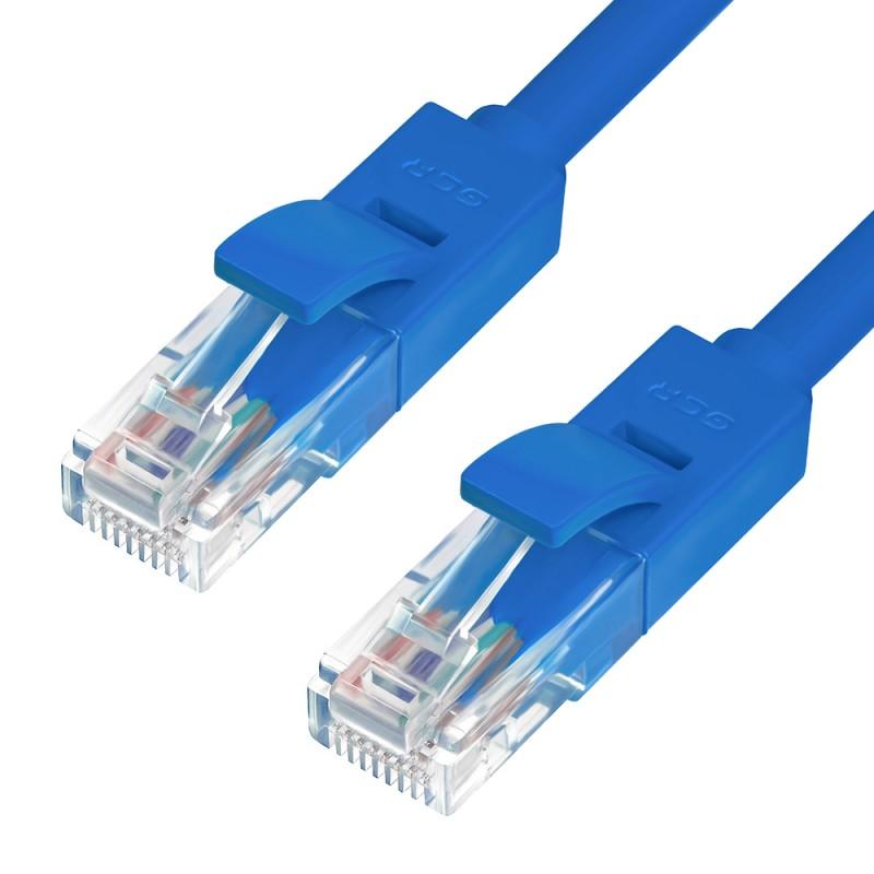 Сетевой кабель GCR Premium UTP 30AWG cat.6 RJ45 T568B 1.5m Blue GCR-LNC621-1.5m