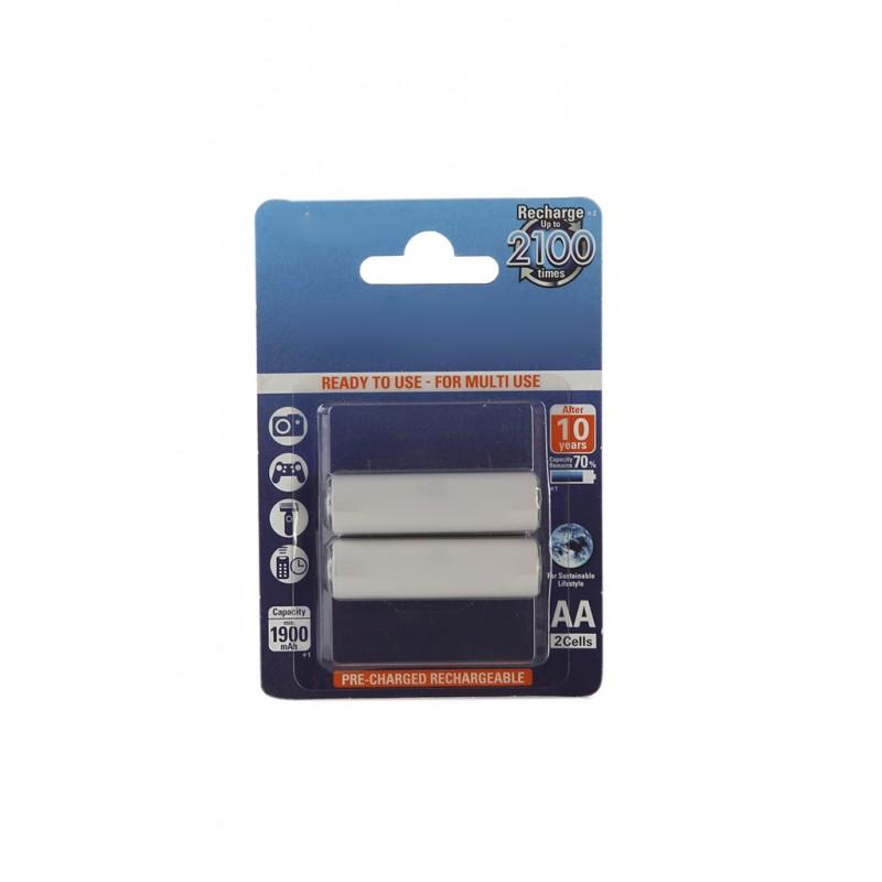 Аккумулятор AA - Panasonic Eneloop 1900 mAh (2 штуки) BK-3MCCE/2BE