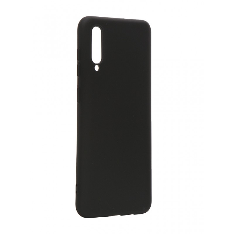 Чехол с микрофиброй DF дляSamsung Galaxy A30s/A50s/A50 Silicone Black sOriginal-03