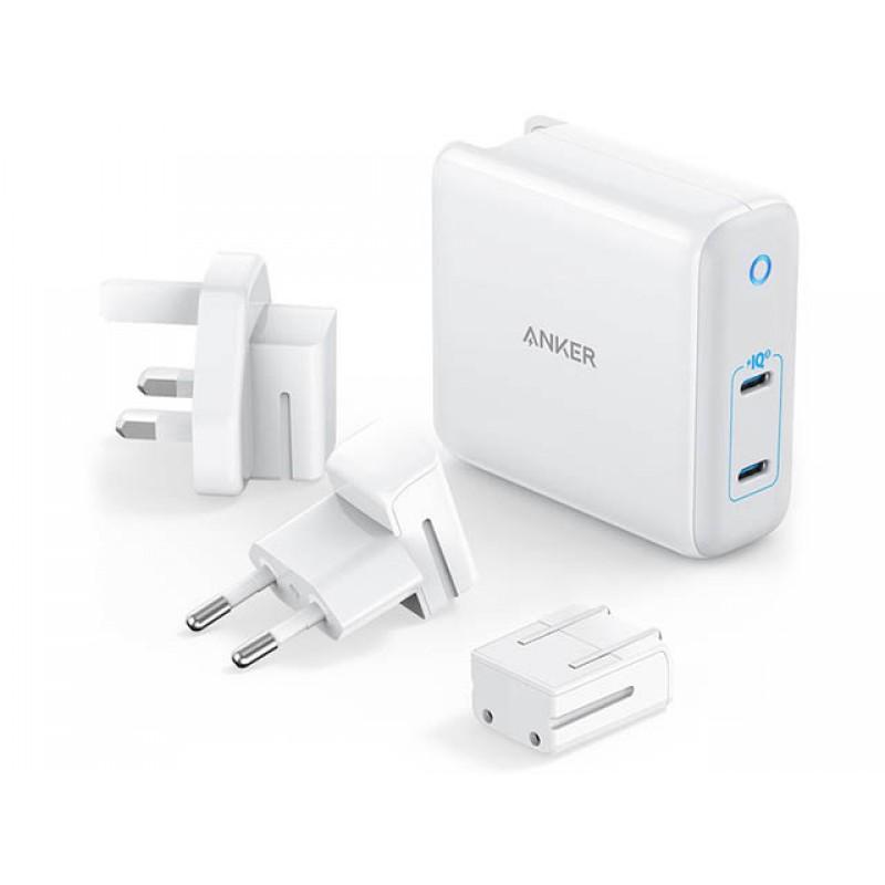 Зарядное устройство Anker PowerPort Atom III Duo 2xUSB-C 60W EU White A2629H21