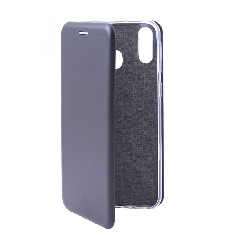 Чехол Innovation для Samsung Galaxy M20 Book Silicone Magnetic Black 15512
