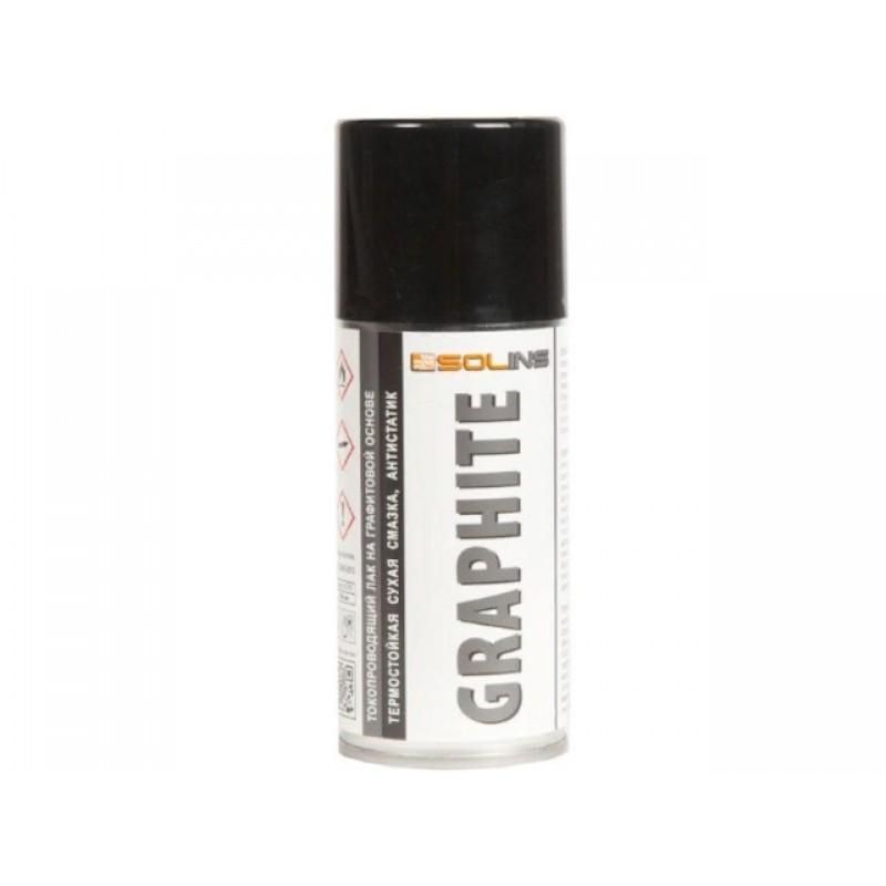 Токопроводящий лак на графитовой основе Solins Graphite 200ml 17400 аэрозоль