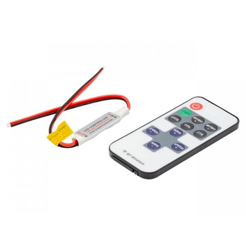Контроллер SWGroup Mini Диммер радио с пультом 5-24V 6A RF-DIM-11-6A 00-00002309