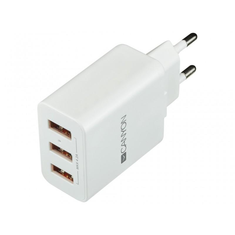 Зарядное устройство Canyon 3xUSB CNE-CHA05W