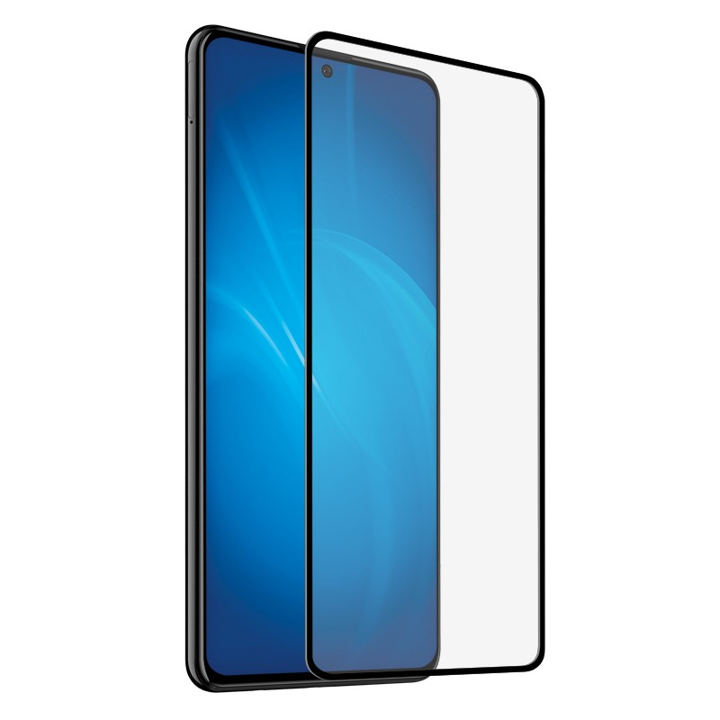 Закаленное стекло DF для Xiaomi Redmi Note 9S/Note 9 Pro Full Screen Full Glue Black Frame xiColor-77