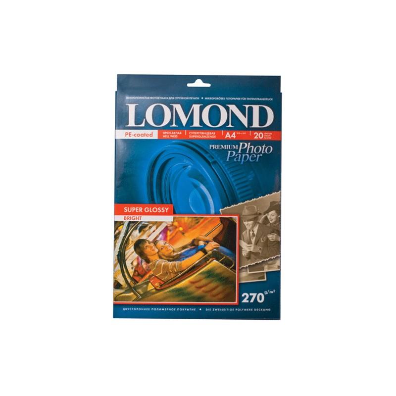Фотобумага Lomond A4 270g/m2 Super Glossy глянцевая односторонняя 20 листов 1106100