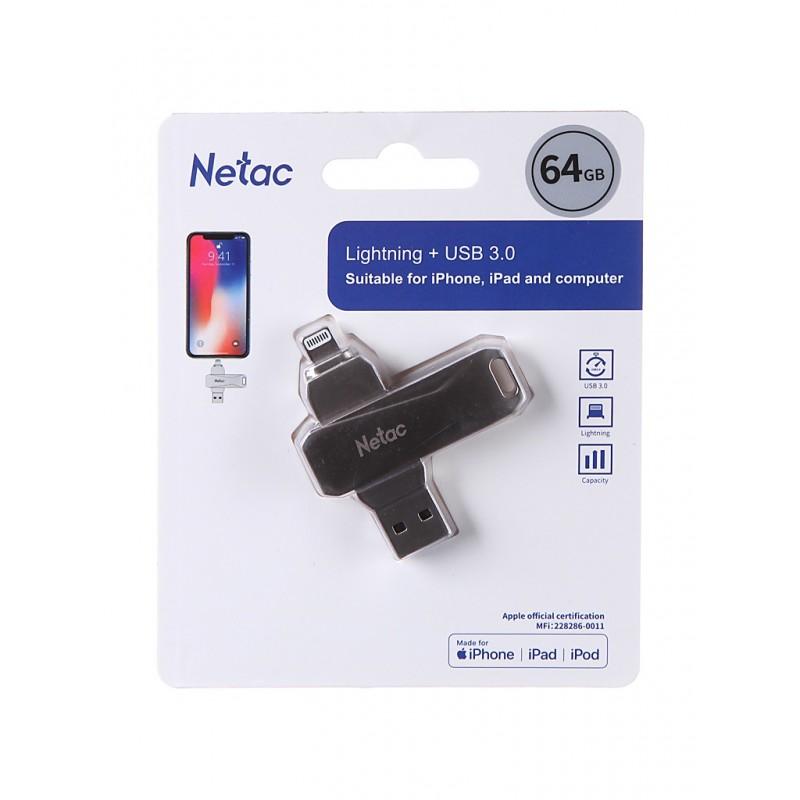 USB Flash Drive 64Gb - Netac U652 NT03U652L-064G-30PN