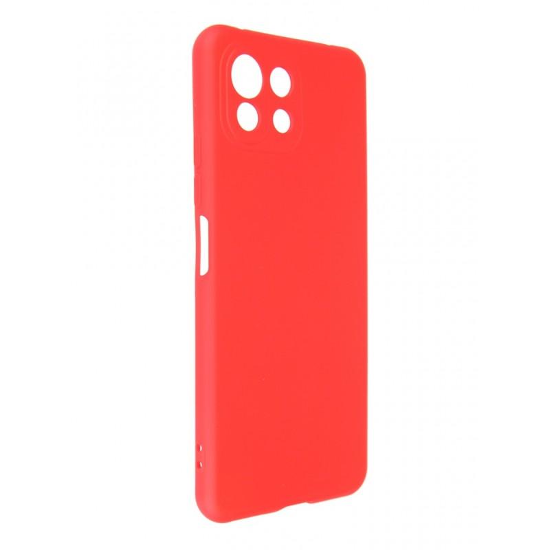 Чехол DF для Xiaomi Mi 11 Lite Red xiOriginal-21