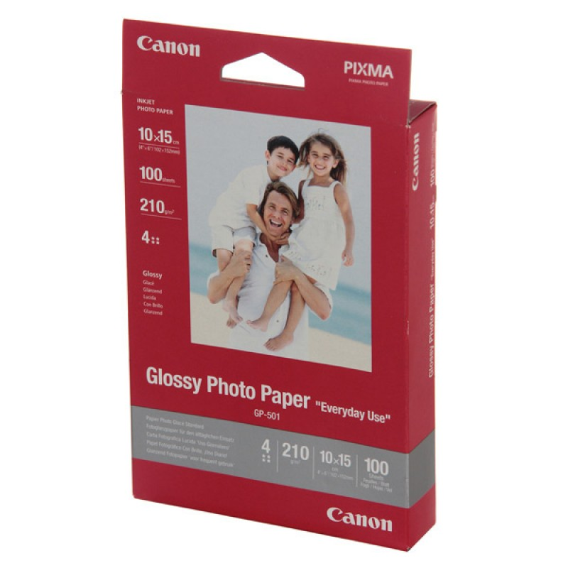 Фотобумага Canon GP-501 Everyday Use Glossy 210g/m2 10x15 100 листов 0775B003