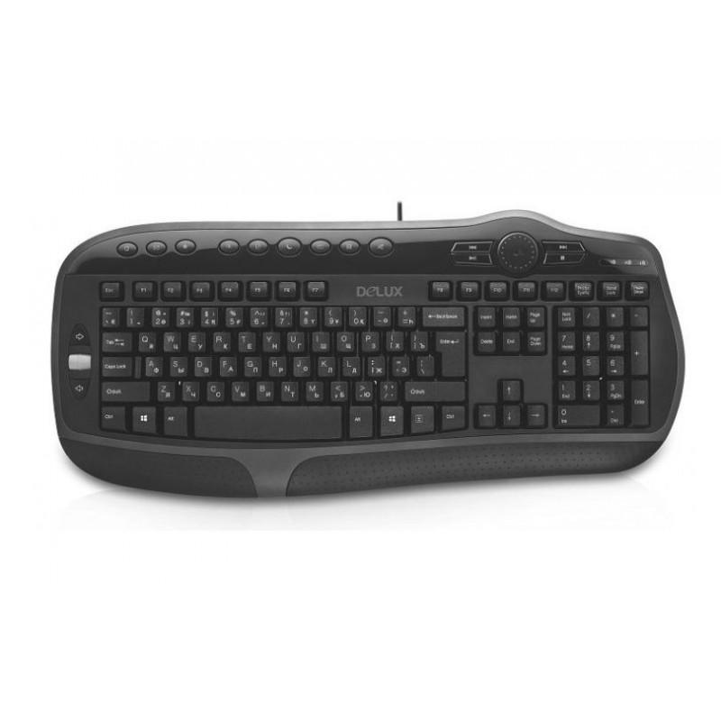 Клавиатура Delux K9050 Black USB