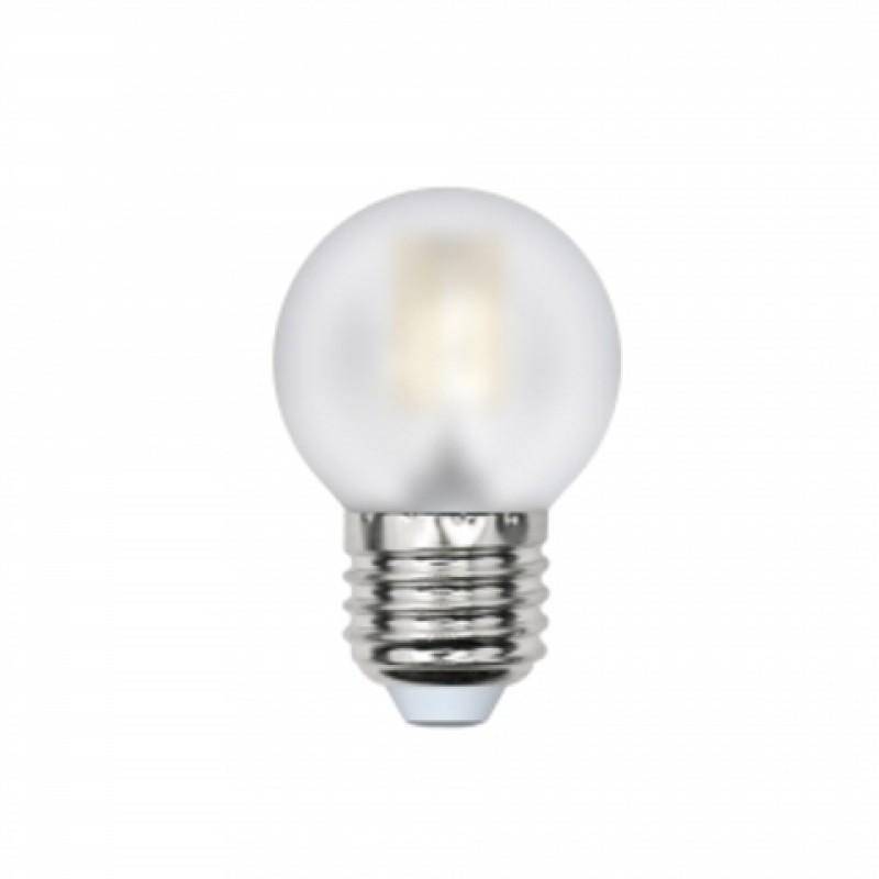 Лампочка Uniel LED G45 E27 6W 220V 3000K 500Lm Warm Light LED-G45-6W/WW/E27/FR PLS02WH