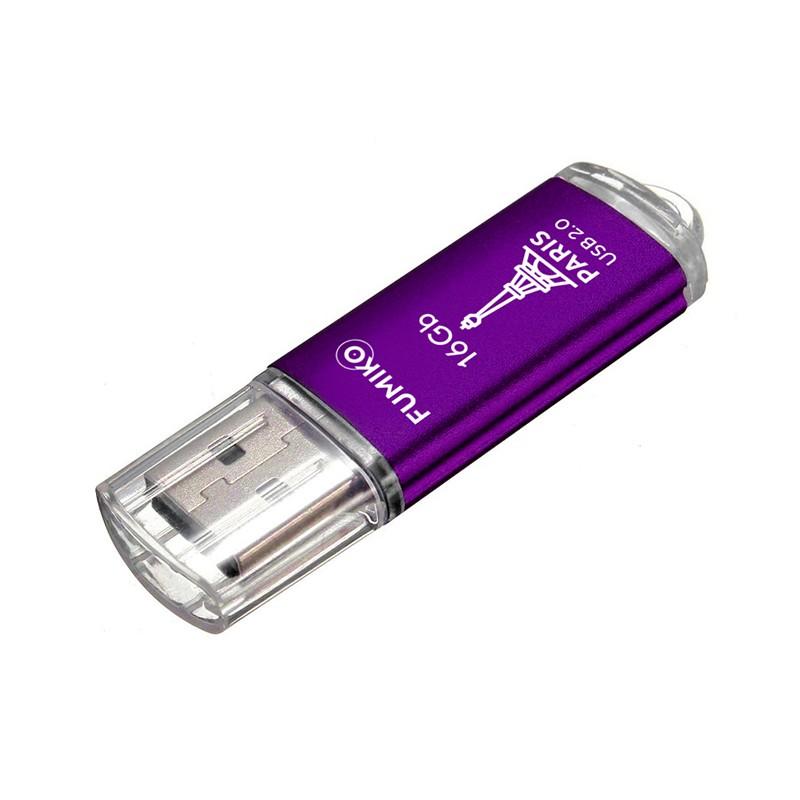 USB Flash Drive 16Gb - Fumiko Paris USB 2.0 Purple FPS-18