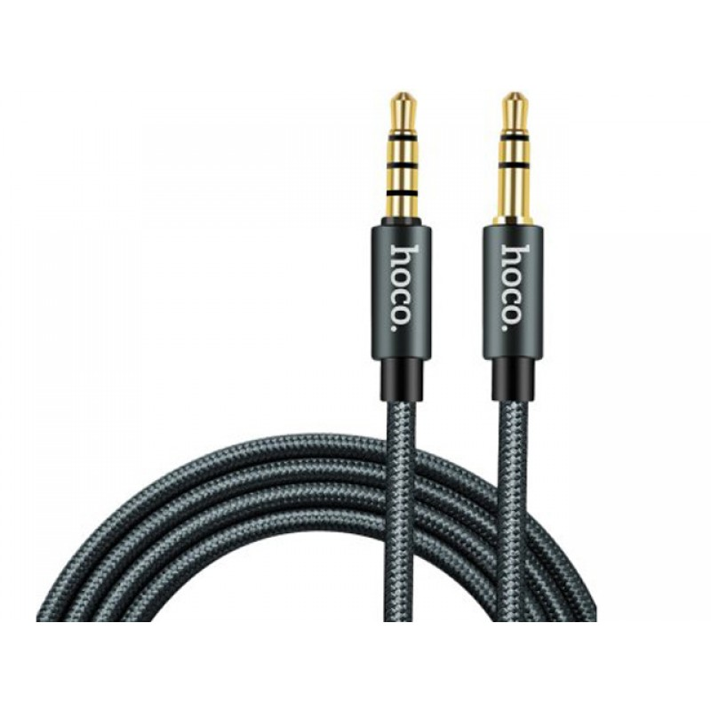 Аксессуар Hoco Noble Sound Series UPA03 3.5 Jack/M - 3.5 Jack/M Grey