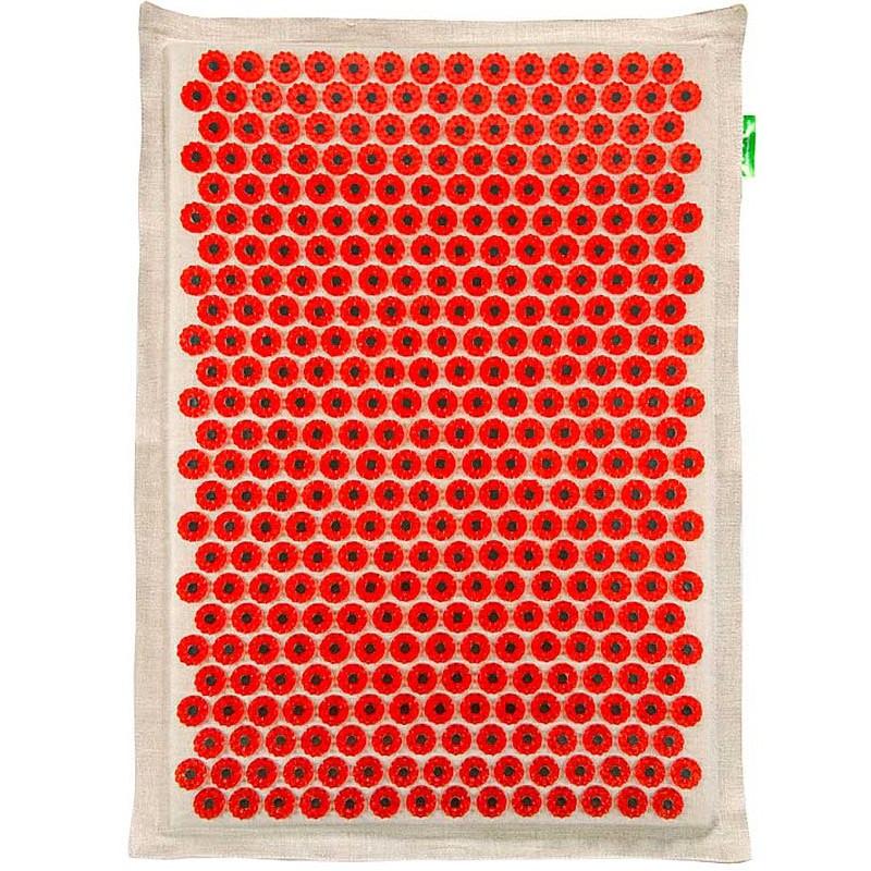 Аппликатор Тибетский аппликатор Кузнецова на мягкой подложке большой для чувствительной кожи магнитный 41х60см Red