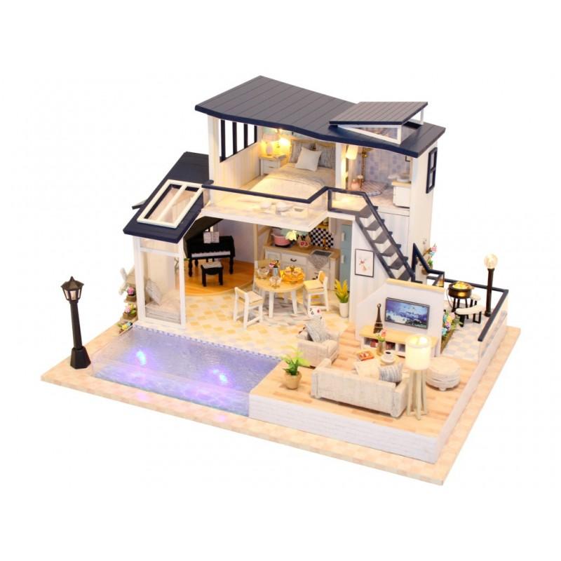 Сборная модель DIY House Вилла с бассейном 13849