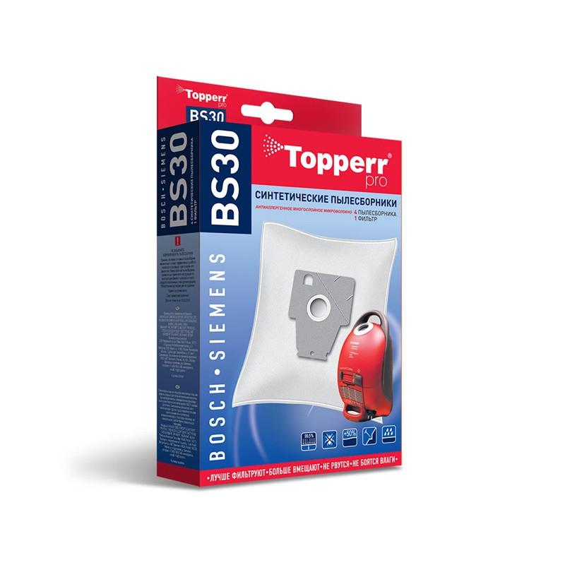Пылесборники синтетические Topperr BS 30 4шт + 1 фильтр