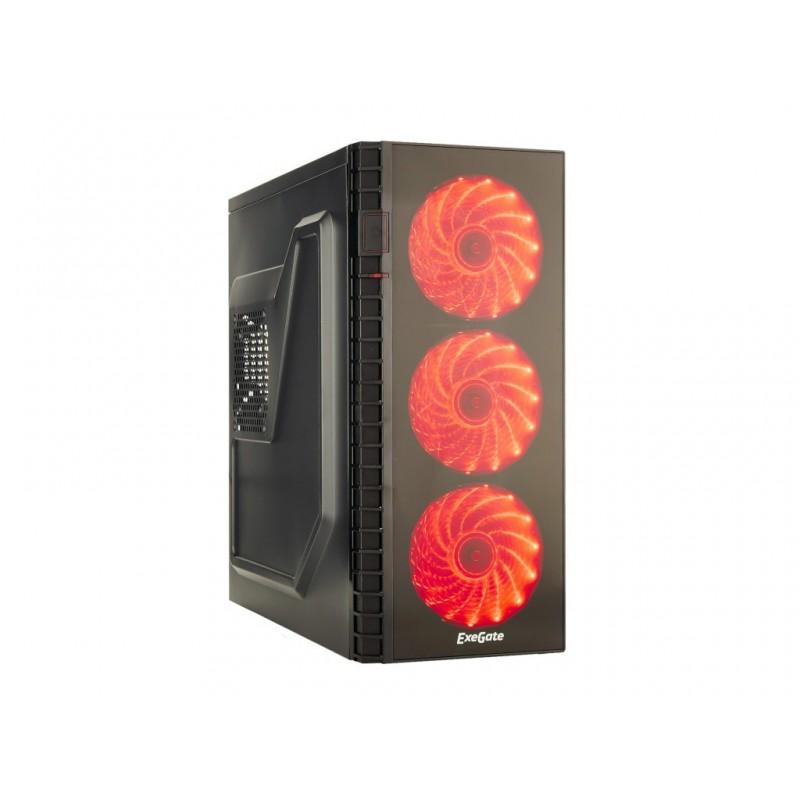 Корпус ExeGate EVO-7215 w/o PSU Black-Red Light EX278416RUS
