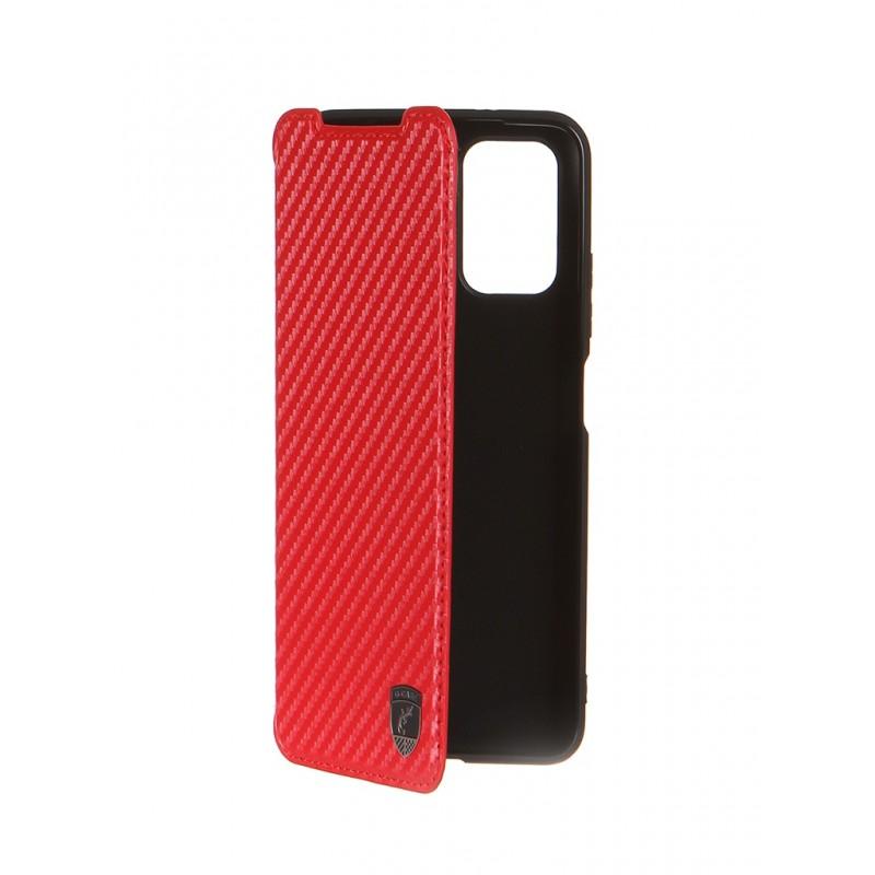 Чехол G-Case для Xiaomi Redmi Note 10 / 10S Slim Premium Carbon Red GG-1427