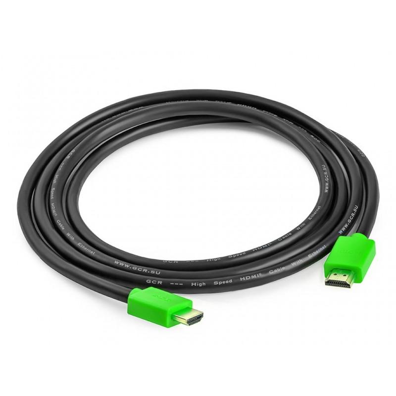 Аксессуар GCR HDMI 2.0 0.3m Green GCR-HM421-0.3m