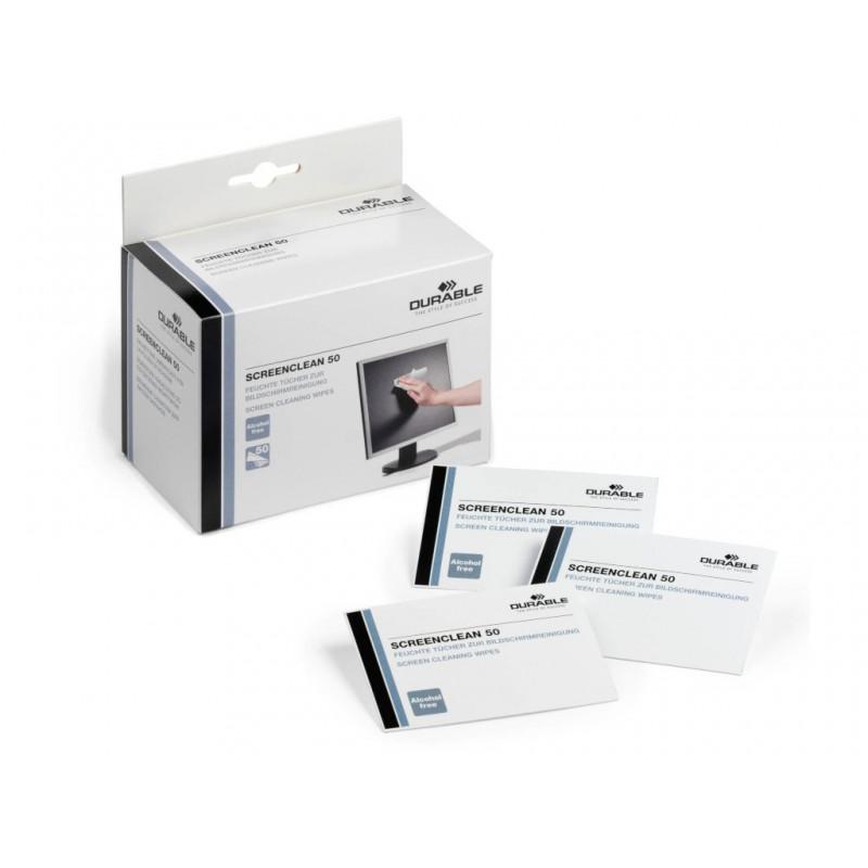 Салфетки Durable Влажные салфетки для чистки мониторов Screenclean 50шт 578702